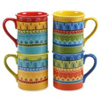 Certified International Valencia 16 oz. Mugs (Set of 4)