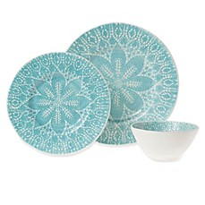 viva by VIETRI Lace Dinnerware Collection in Aqua  sc 1 st  Bed Bath \u0026 Beyond & viva by VIETRI Lace Dinnerware Collection in Aqua - Bed Bath \u0026 Beyond