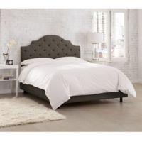 Skyline Furniture Kingsbury Tufted Linen California King Bed in Slate