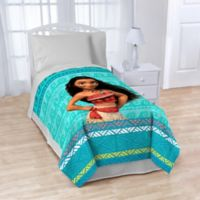 "Disney Moana ""The Wave"" Blanket in Aqua"