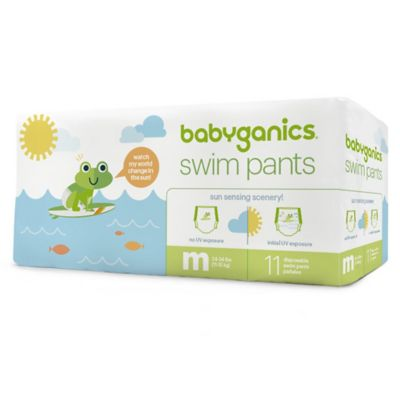 Diapers > Babyganics® 11-Count Medium Color Changing Disposable Swim Diapers