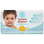 Honest 44-Pack Size 1 Diapers in Teal Tribal Pattern
