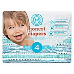Honest 29-Pack Size 4 Diapers in Teal Tribal Pattern