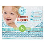 Honest 25-Pack Size 5 Diapers in Teal Tribal Pattern