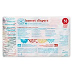 Honest 40-Pack Newborn Diapers in Rose Blossom Pattern