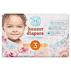 Honest 34-Pack Size 3 Diapers in Rose Blossom Pattern