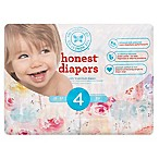 Honest 29-Count Size 4  Diapers in Rose Blossom Pattern