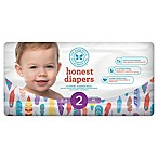 Honest 40-Pack Size 2 Diapers in Painted Feathers Pattern