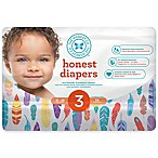 Honest 34-Pack Size 3 Diapers in Painted Feathers Pattern