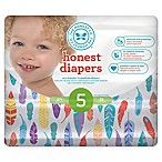 Honest 25-Pack Size 5 Diapers in Painted Feathers Pattern