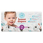 Honest 40-Pack Size 2 Diapers in Space Traveling Pattern
