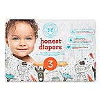 Honest 34-Pack Size 3 Diapers in Space Traveling Pattern