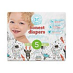 Honest 25-Pack Size 5 Diapers in Space Traveling Pattern