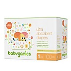 Babyganics® 100-Count Size 1 Ultra Absorbent Diapers