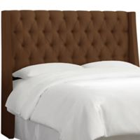 Skyline Furniture Adeline Tufted King Headboard in Chocolate
