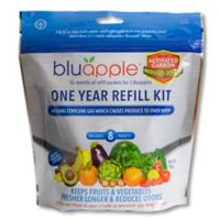 Bluapple® 2-Pack Ethylene Gas Absorber with Activated Carbon One-Year Refill Kit