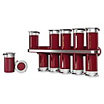 Honey-Can-Do® Zero Gravity™ 12-Canister Magnetic Spice Rack in Red