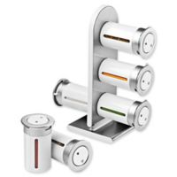 Honey-Can-Do® Zero Gravity™ 6-Canister Magnetic Spice Rack in White