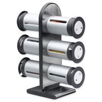 Honey-Can-Do® Zero Gravity™ 6-Canister Magnetic Spice Rack in Metallic