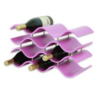 Oenophilia Bali 10-Bottle Wine Rack in Pink