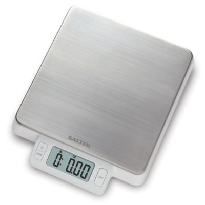 Salter High Precision Stainless Steel Digital Kitchen Food Scale In White