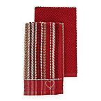ED Ellen DeGeneres 2-Pack Kitchen Towels Set in Red