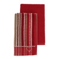ED Ellen DeGeneres Kitchen Towels in Red (Set of 2)