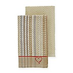 ED Ellen DeGeneres™ 2-Pack Kitchen Towels Set in Khaki