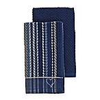 ED Ellen DeGeneres 2-Pack Kitchen Towels Set in Blue