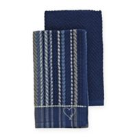 ED Ellen DeGeneres Kitchen Towels in Blue (Set of 2)