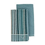 ED Ellen DeGeneres 2-Pack Kitchen Towels Set in Aqua