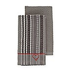 ED Ellen DeGeneres 2-Pack Kitchen Towels Set in Grey