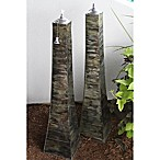 Outdoor Interiors® Large Pyramid Torches in Monet (Set of 2)