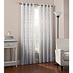 Newport Wave 63-Inch Light-Filtering Grommet Top Window Curtain Panel in Gold