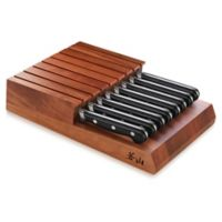 Cangshan V2 Series 9-Piece 5-Inch Steak Knife and Knife Tray Set