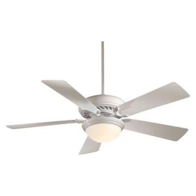 Minka aire supra 52 inch 1 light ceiling fan in white