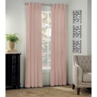 Newport 63-Inch Grommet Window Curtain Panel in Blush