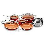 Gotham™ Steel Ti-Cerama™ 10-Piece Cookware Set in Red