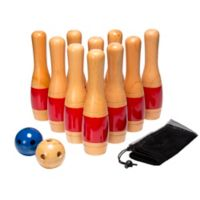 Hey! Play! Wooden Lawn Bowling Set