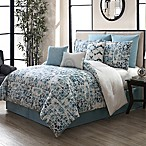 Amber 9-Piece Queen Comforter Set in Aqua