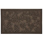 Mohawk Home Monoco Leaves 30-Inch x 18-Inch Door Mat in Brown