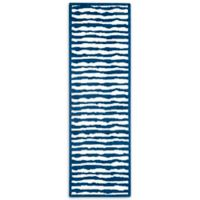 Safavieh Kids® Wave Stripe 2-Foot 3-Inch x 7-Foot Runner in Blue