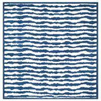 Safavieh Kids® Wave Stripe 6-Foot Square Area Rug in Blue