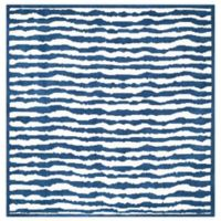 Safavieh Kids® Wave Stripe 6-Foot Square Area Rug in Blue