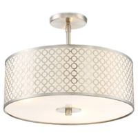 George Kovacs® Dots 3-Light Semi-Flush Mount Ceiling Fixture in Brushed Nickel