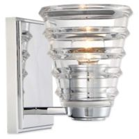 George Kovacs® Arctic 1-Light Wall-Mount Bath Fixture in Chrome with Glass Shade