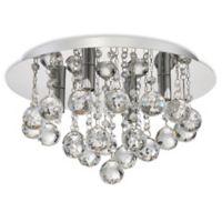 Quoizel Platinum Bordeaux Halogen 4-Light Flush Mount Ceiling Fixture in Polished Chrome