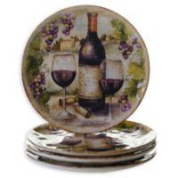 Certified International Sanctuary Wine Salad Plates (Set of 4)