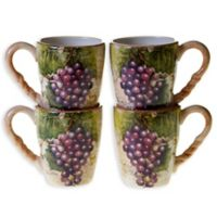 Certified International Sanctuary Wine Mugs (Set of 4)
