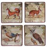 Certified International Rustic Nature Dessert Plates (Set of 4)